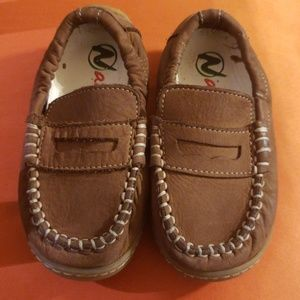Naturino Brown Leather Deck shoes sz. 23